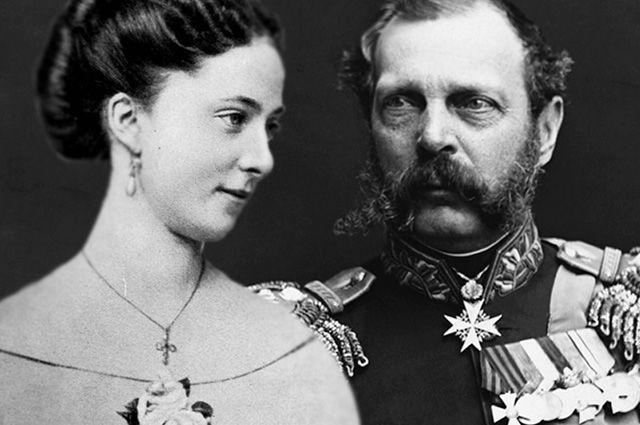 Екатерина Долгорукова и Александр II.