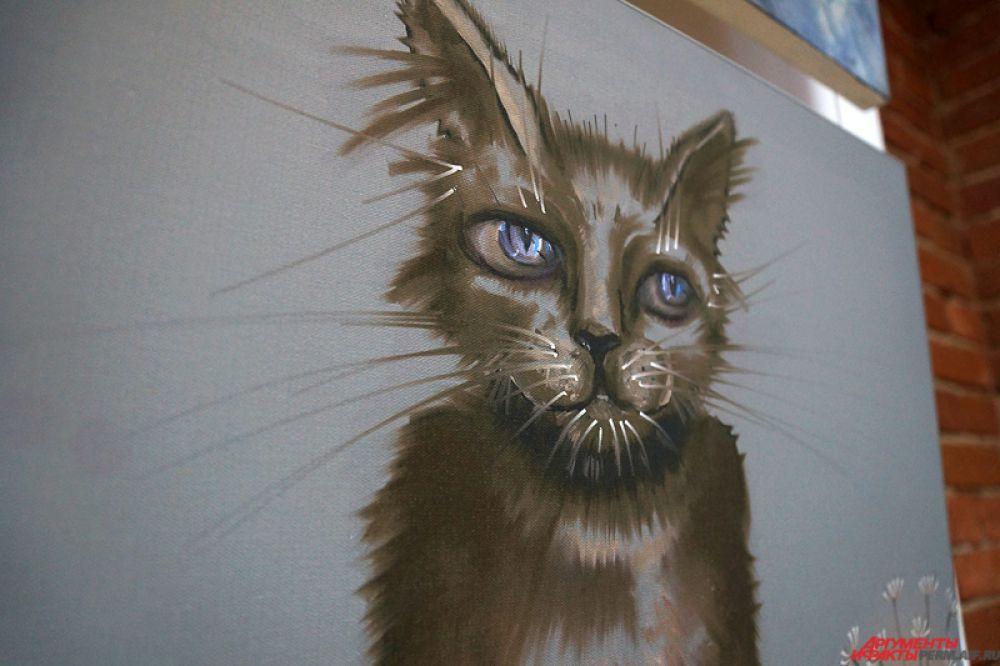 Организаторы приурочили презентацию произведений прикамских художников к Международному дню кошек.