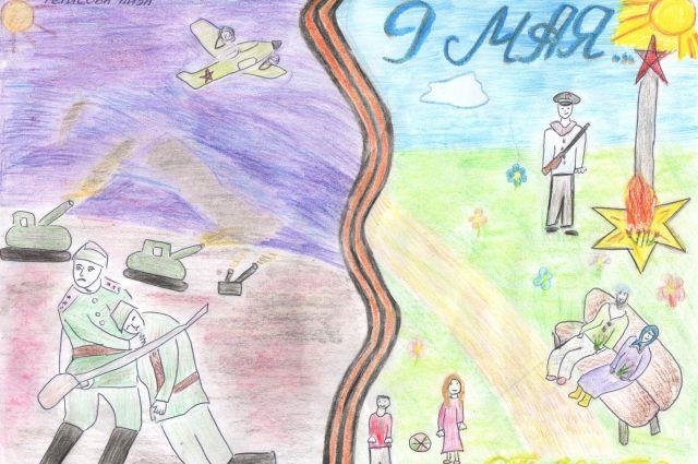 Дети нарисуют свои картины на тему победы в войне.