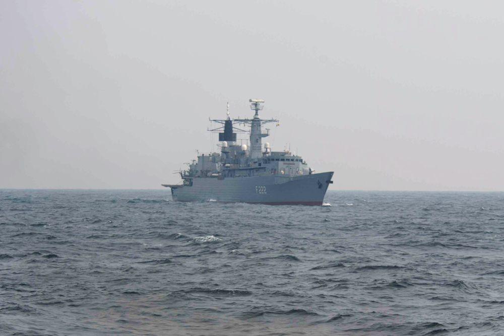Фрегат Regina Maria ВМС Румынии. Бывший английский фрегат F95 «Лондон» был куплен в Великобритании 14 января 2003 года и переименован в «Реджина Мария».