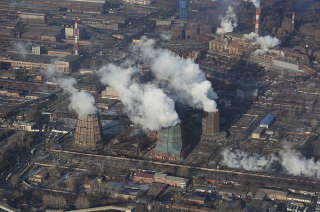 Вид на Челябинск с высоты птичьего полета.