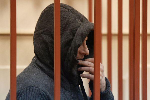 Губернатор Сахалинской области Александр Хорошавин на заседании в Басманном суде в Москве.