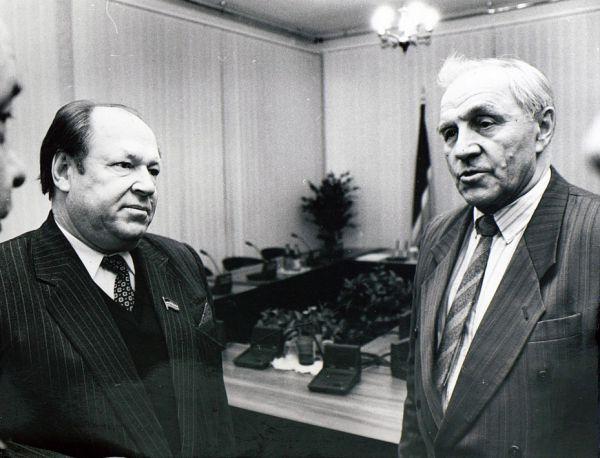 С актером Михаилом Ульяновым