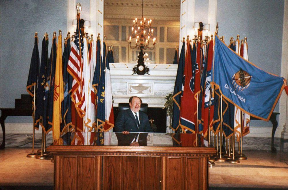 Во время выступления на расширенном заседании ООН, Нью-Йорк,  1992 г.