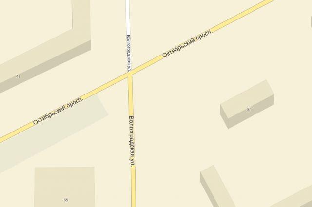 Столкновение произошло напротив дома №67.
