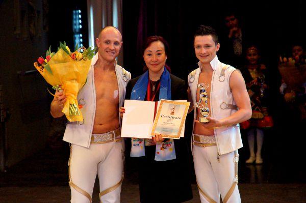 Серебряную статуэтку завоевал украинский акробатический дуэт «Квас».