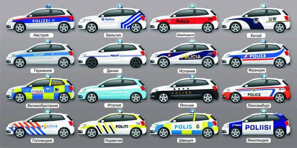 Дизайн патрульных авто в разных странах
