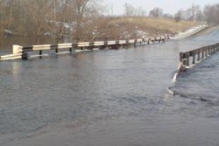 За один день в Рязанской области затопило четыре низководных моста