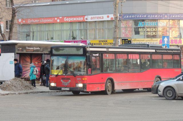 Перми столкнулись автобус