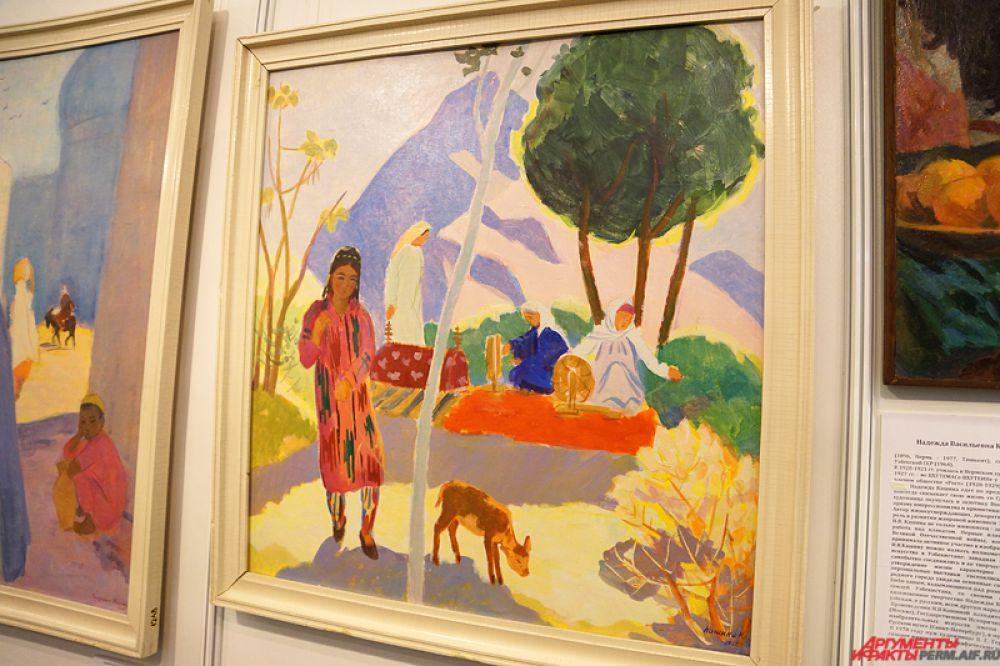 Картина Надежды Кашиной, народной художницы из Узбекистана