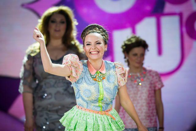 Татьяна Морозова на сцене Comedy Woman.