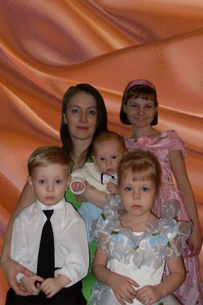 Участник №7. Мама Юлия и ее четверо детей