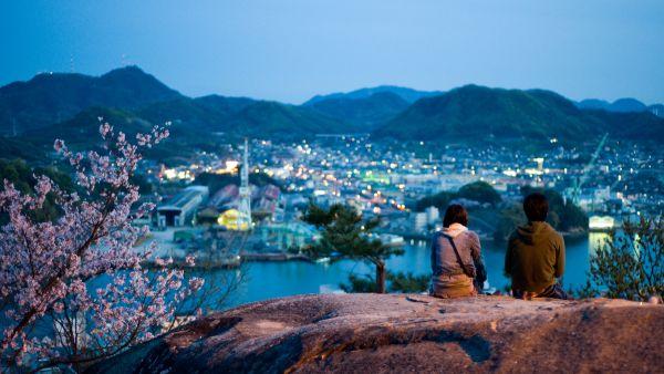 Специальная подсветка, установленная под деревьями, позволяет японцам любоваться сакурой даже ночью. Ночное ханами называется ёдзакур, что переводится как «ночная сакура».