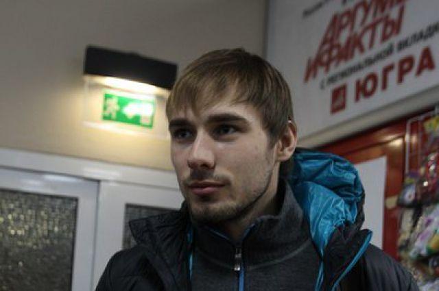 Антон Шипулин в аэропорту Ханты-Мансийска.