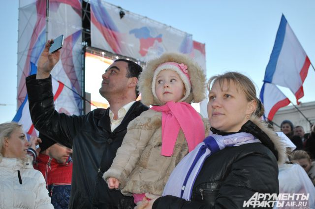 Год назад жители полуострова решили, что будут жить в России.