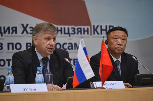 Василий Усольцев на российско-китайской встрече.