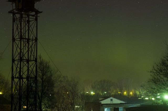 Полярное сияние в Киреевском районе
