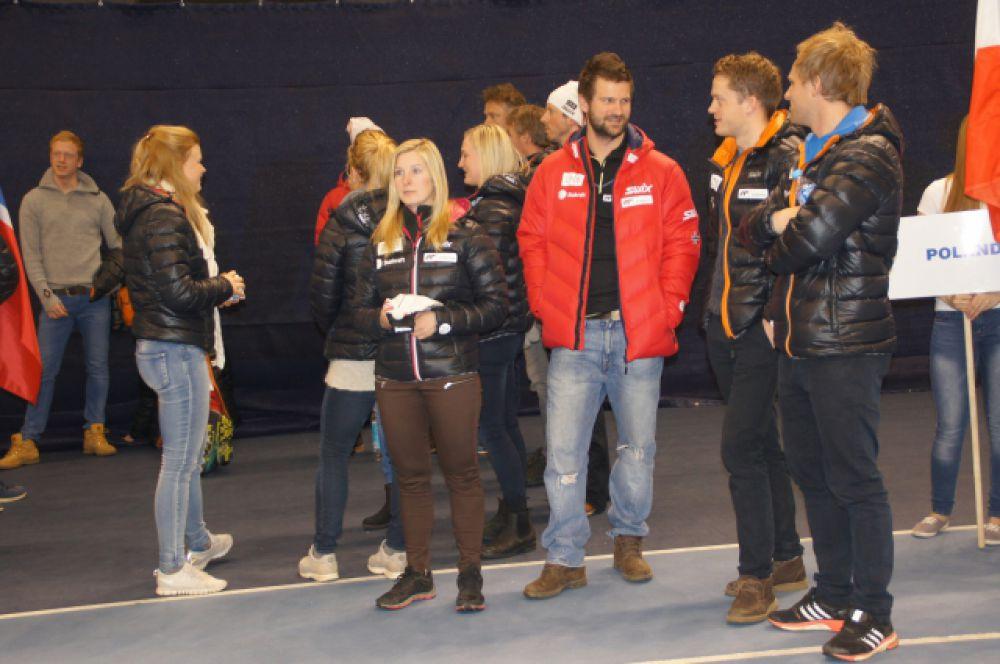 Перед церемонией открытия. Сборная Норвегии.