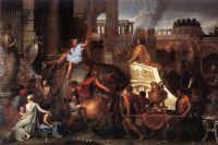 Александр вступает в Вавилон. Лебрен, ок. 1664.