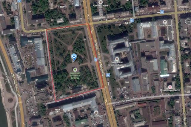 Сквер имени 30-летия ВЛКСМ в Омске.