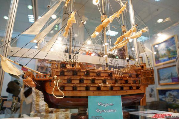 Модель фрегата, сделанная осужденными.