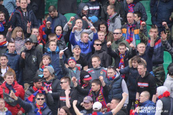 Туляков поддержали и болельщики ЦСКА.