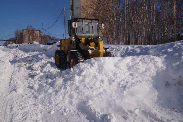 Уборка снега после циклона