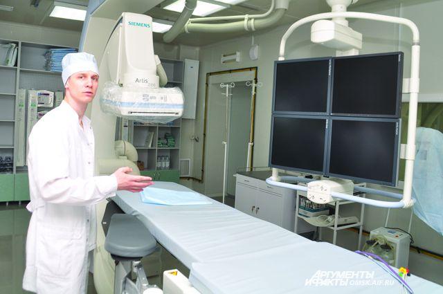 Аппарат позволяет детально исследовать повреждённые сосуды.