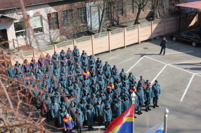 Подготовка к параду идет полным ходом.