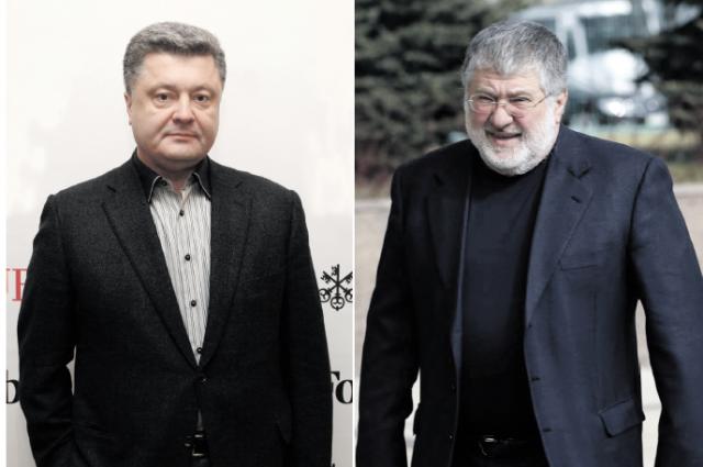 Петр Порошенко и Игорь Коломойский