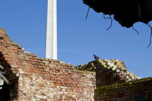 Мельница была единственным многоэтажным зданием в округе, оборону которого удерживали советские солдаты.