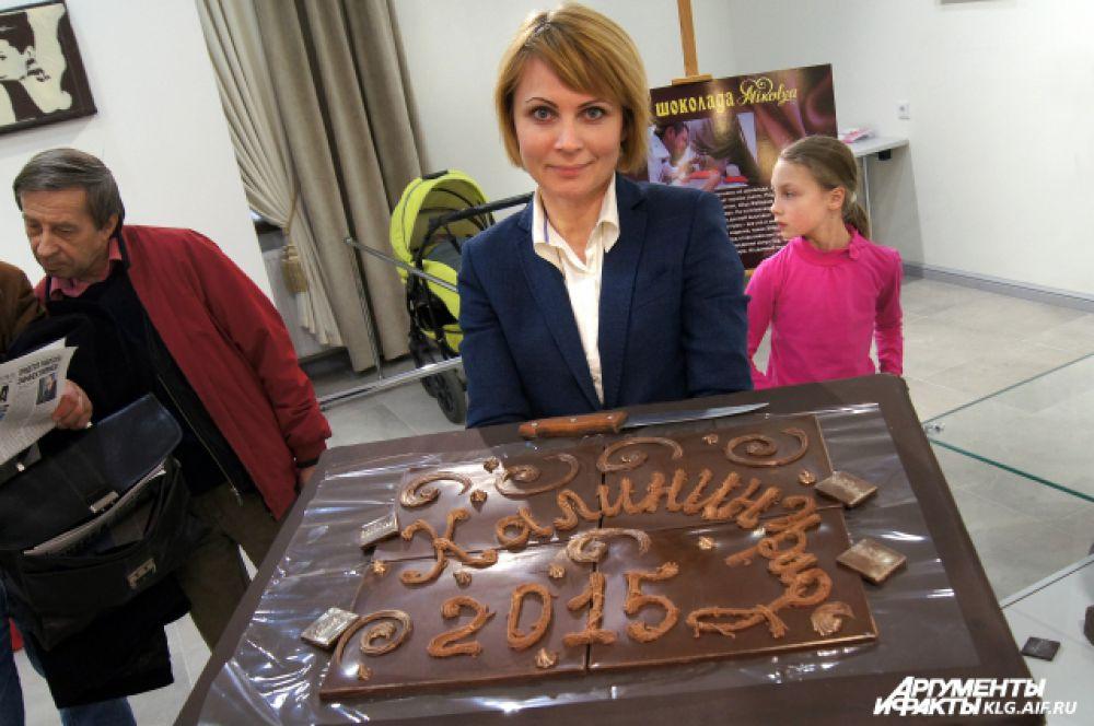 Калининграду шоколатье подарил сладкое панно и портрет известного сказочника Гофмана.