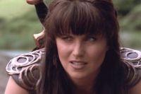 Люси Лоулесс в сериале «Зена, королева воинов».