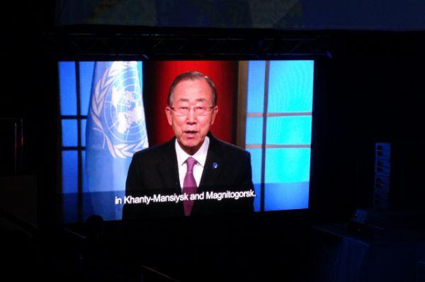 Видеообращение генерального секретаря ООН Пак Ги Муна.