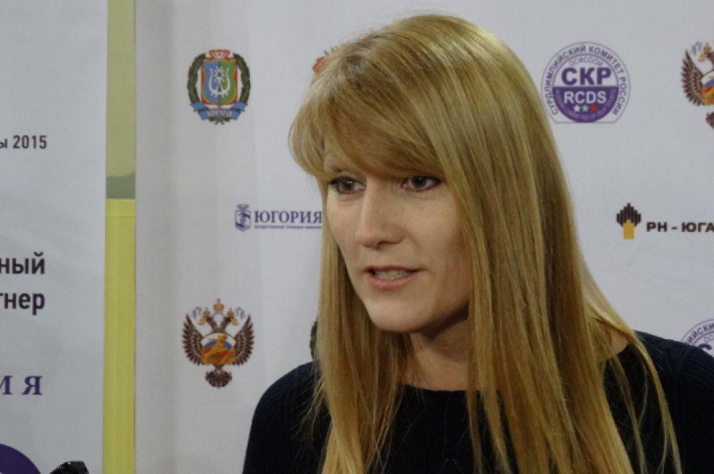 Гостья Игр - олимпийская чемпионка по конькобежному спорту, депутат Госдумы Светлана Журова.