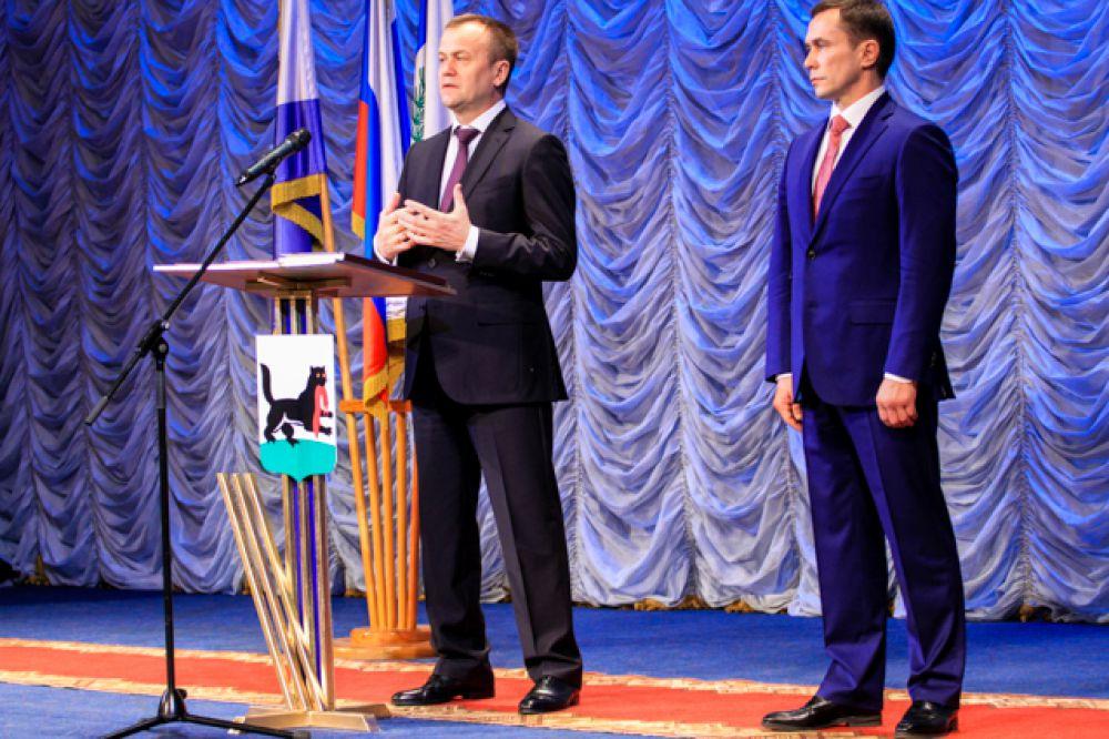 Губернатор выразил надежду на консолидацию с Думой и Правительством Иркутской области.