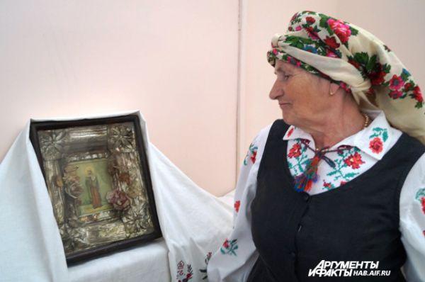 Икона Святой Матроны мученицы, которой венчали родителей Валентины Скороходской в начале 20 века