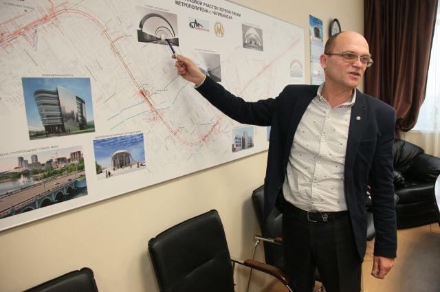 Гендиректор «Челябметростроя» Валерий Мочалкин.