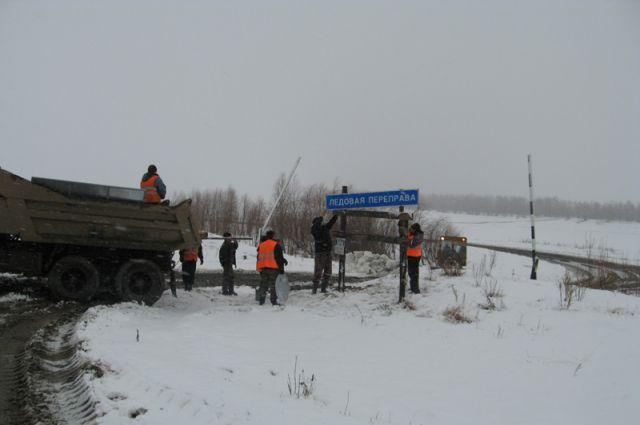 Ледовые переправы закрываются в Омской области.