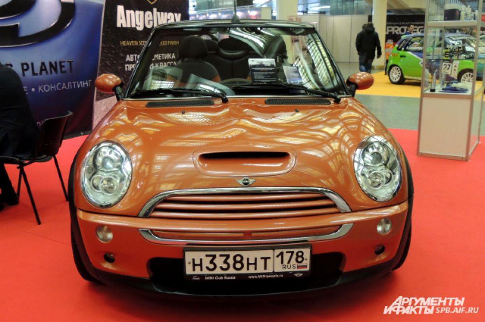 На выставке широко представлен ряд моделей марки Mini