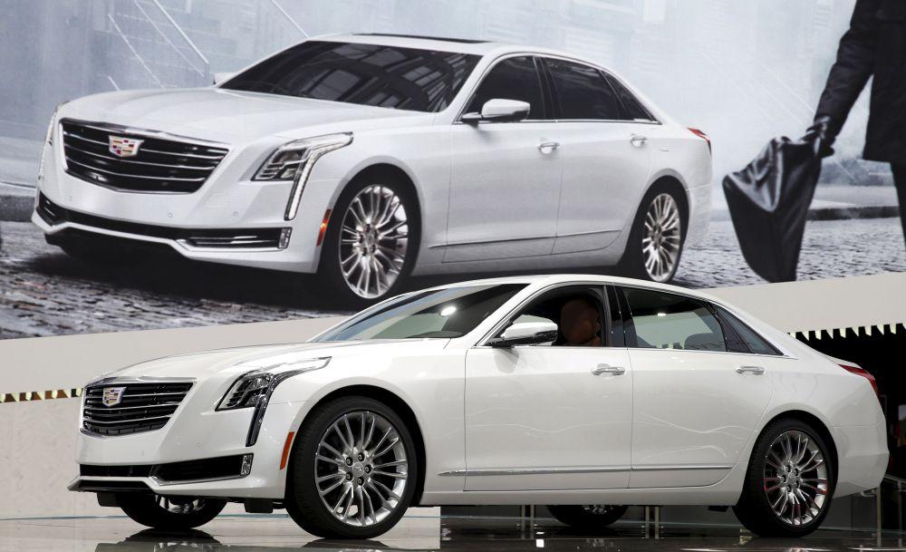 Самый ожидаемый дебютант автовыставки – седан Cadillac CT6.