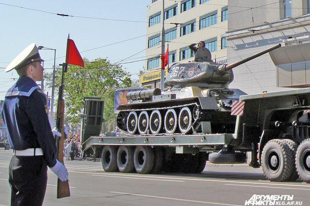 Парад в Калининграде.