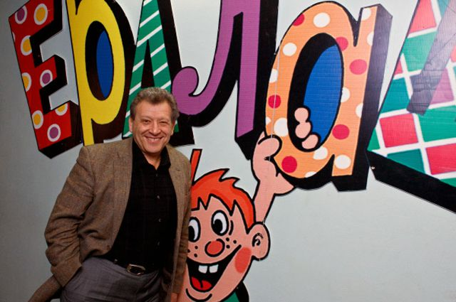 Художественный руководитель «Ералаша» Борис Грачевский в рабочем кабинете.