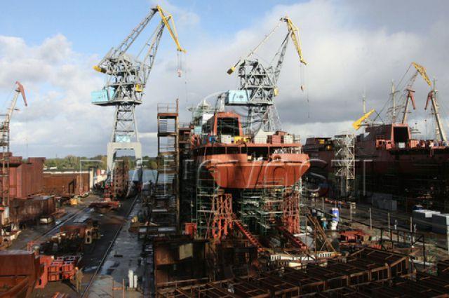 Завод «Янтарь» в Калининграде создал три фрегата.