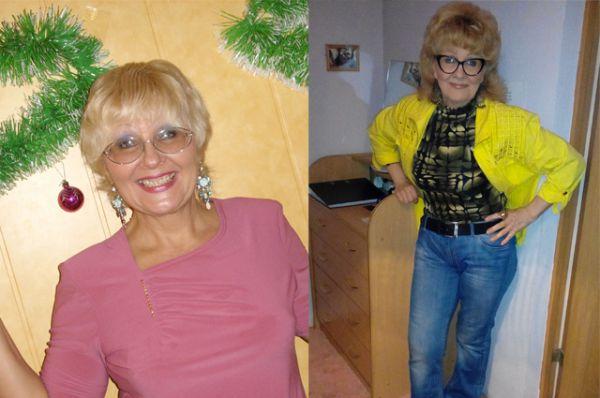 Участинца №1. Татьяна Арефьева в 40 лет и 61 год. У Татьяны трое детей, пять внуков и шестой на подходе.