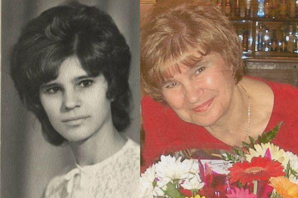 Участинца №2. Галина Петрунина в 23 года и в 64 года.