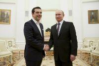 Алексис Ципрас и Владимир Путин.