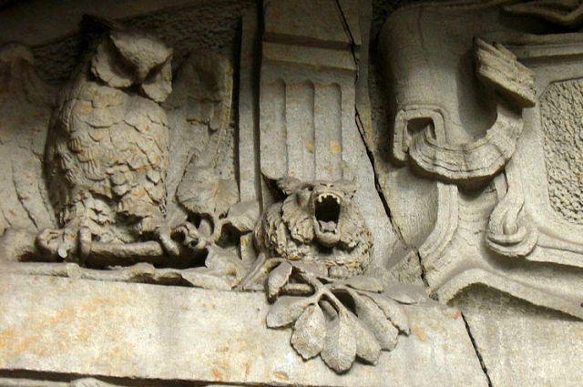 Фрагмент фасада доходного дома Лидваль.