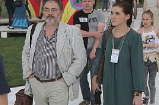 Марат Гельман и Анастасия Борохова на фестивале «Белые ночи»