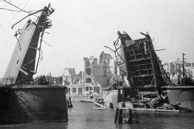 Кенигсберг после взятия советскими войсками.